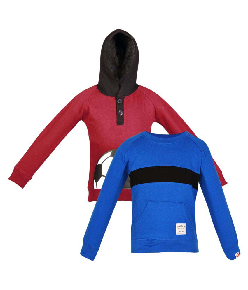 Gkidz Multicolour Fleece Sweatshirt - Pack of 2