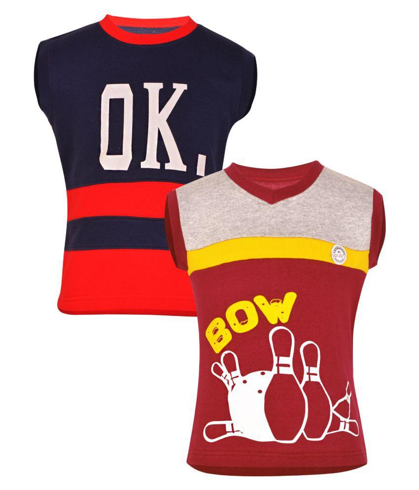 Gkidz Multicolour Fleece Sweatshirt Pack of 2