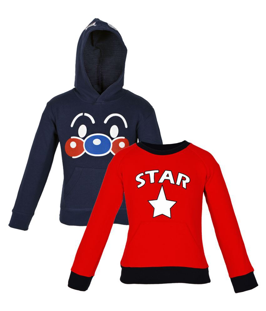 Gkidz Multi Color Sweat Shirt - Pack Of 2