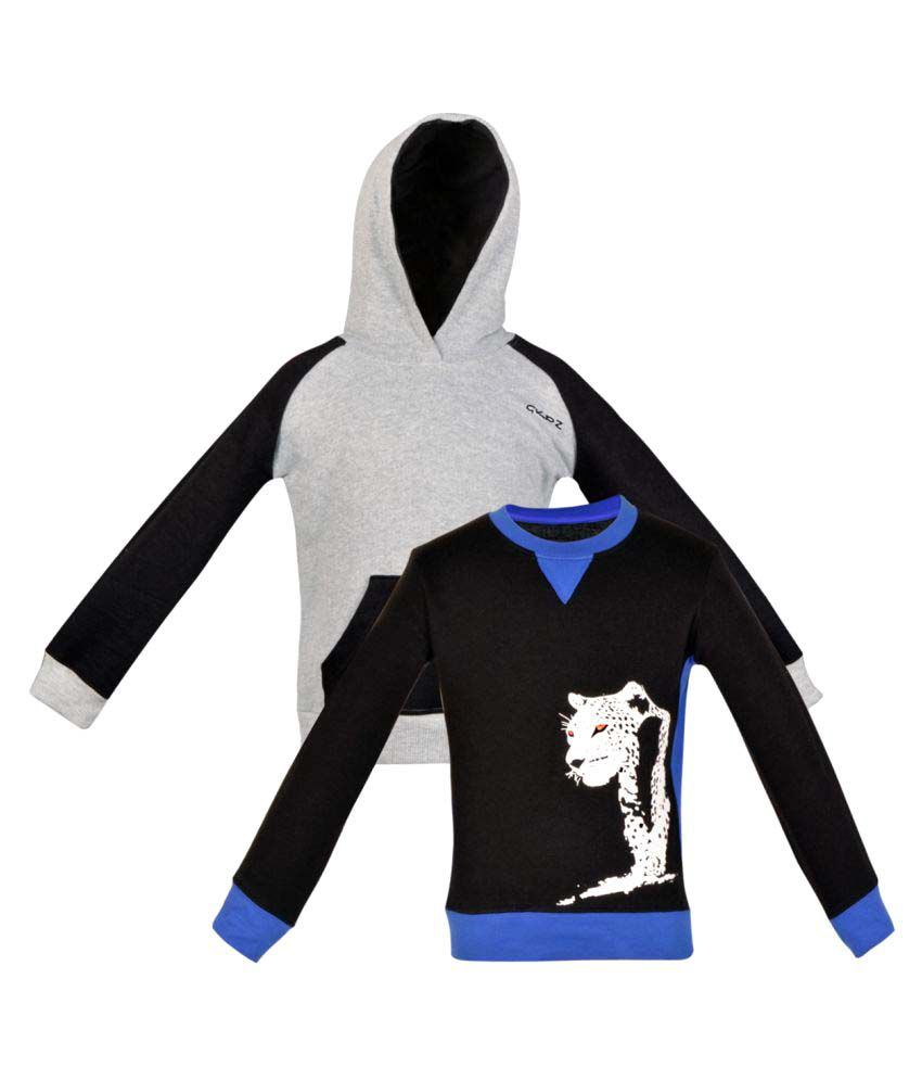 Gkidz Multicolour Crew Neck Sweatshirt - Pack Of 2