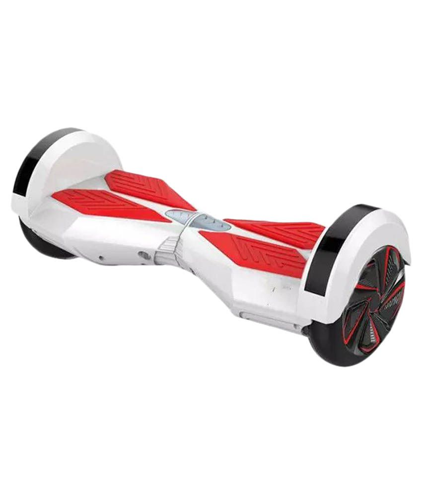 Infinitycarts - White - Self Balancing Electric Scooter - 8 inches