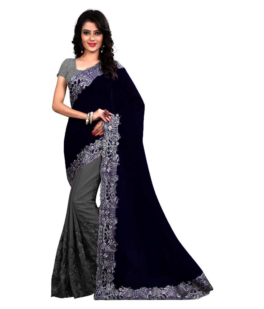 Laazree Fashion Multicoloured Georgette Saree