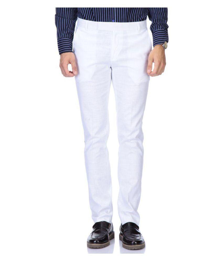 Roy White Slim Flat Trouser