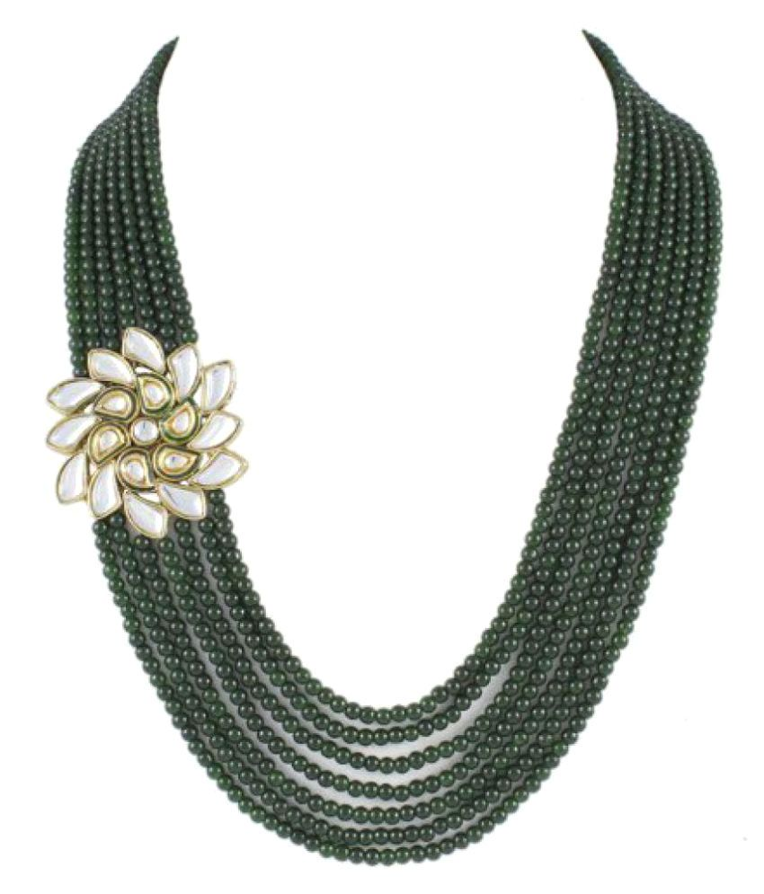 Shining Diva Green Alloy Necklace