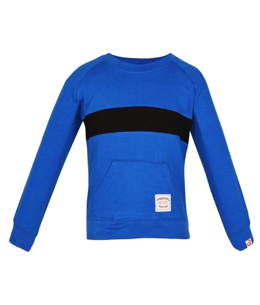 Gkidz Royal Blue Full Sleeve Sweatshirt