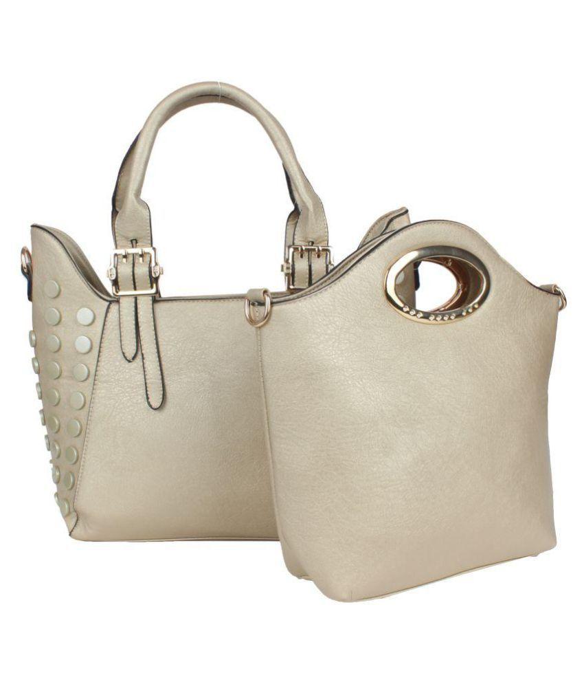 Saffron Craft Gold P.U. Shoulder Bag
