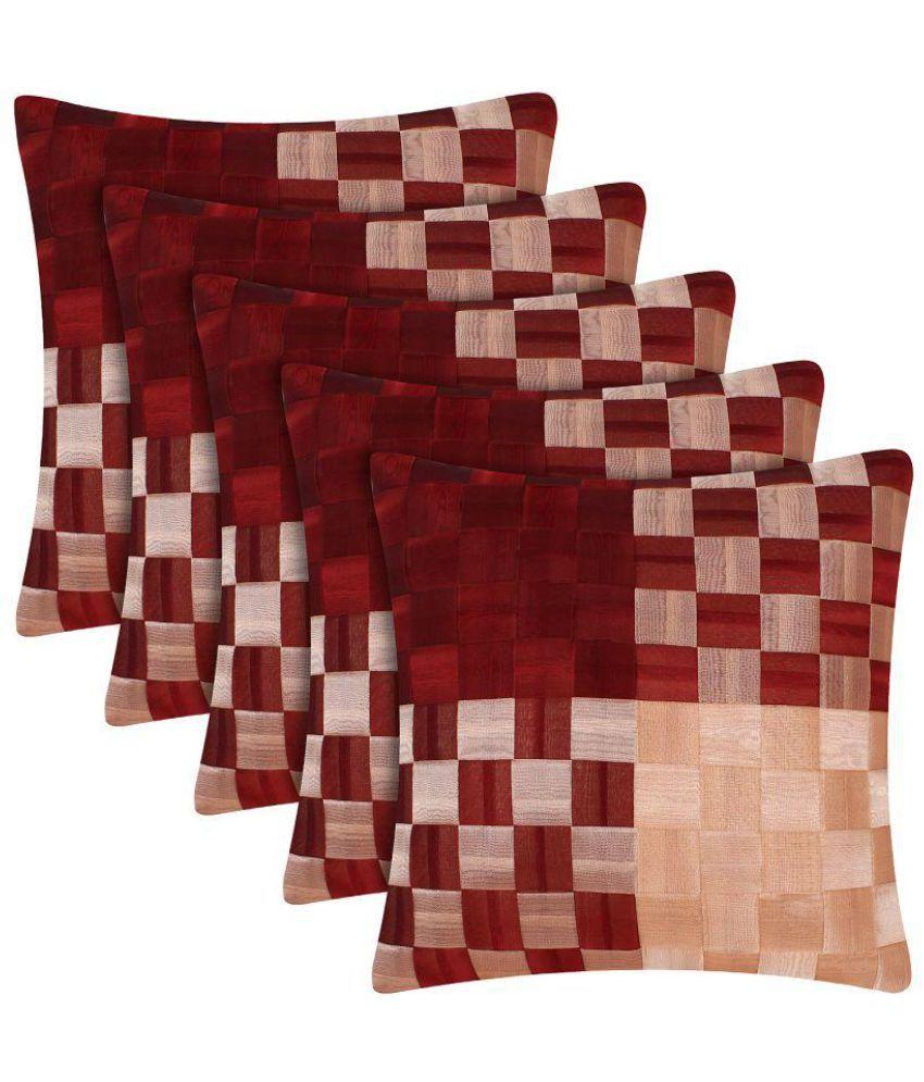 BedFab Set of 5 Satin Cushion Covers