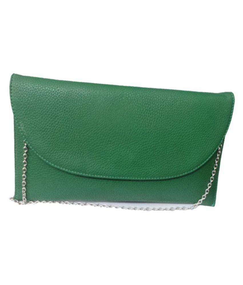Berries Green P.U. Sling Bag