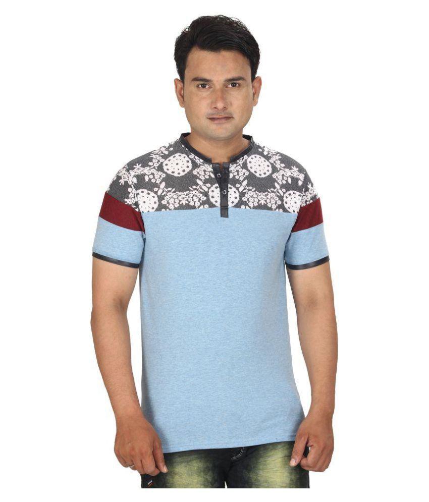 Decent Style Bags Blue Henley T-Shirt