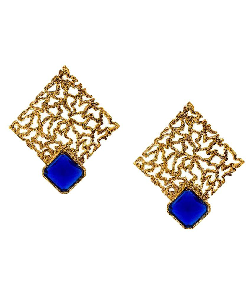 ShinningDiva Golden Alloy Earrings