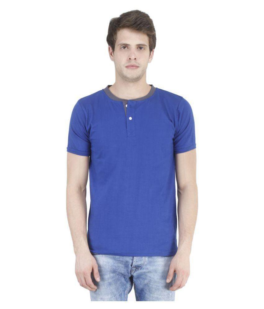Swager Blue Henley T-Shirt
