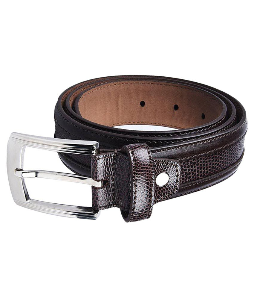 ACE Black Leather Casual Belts