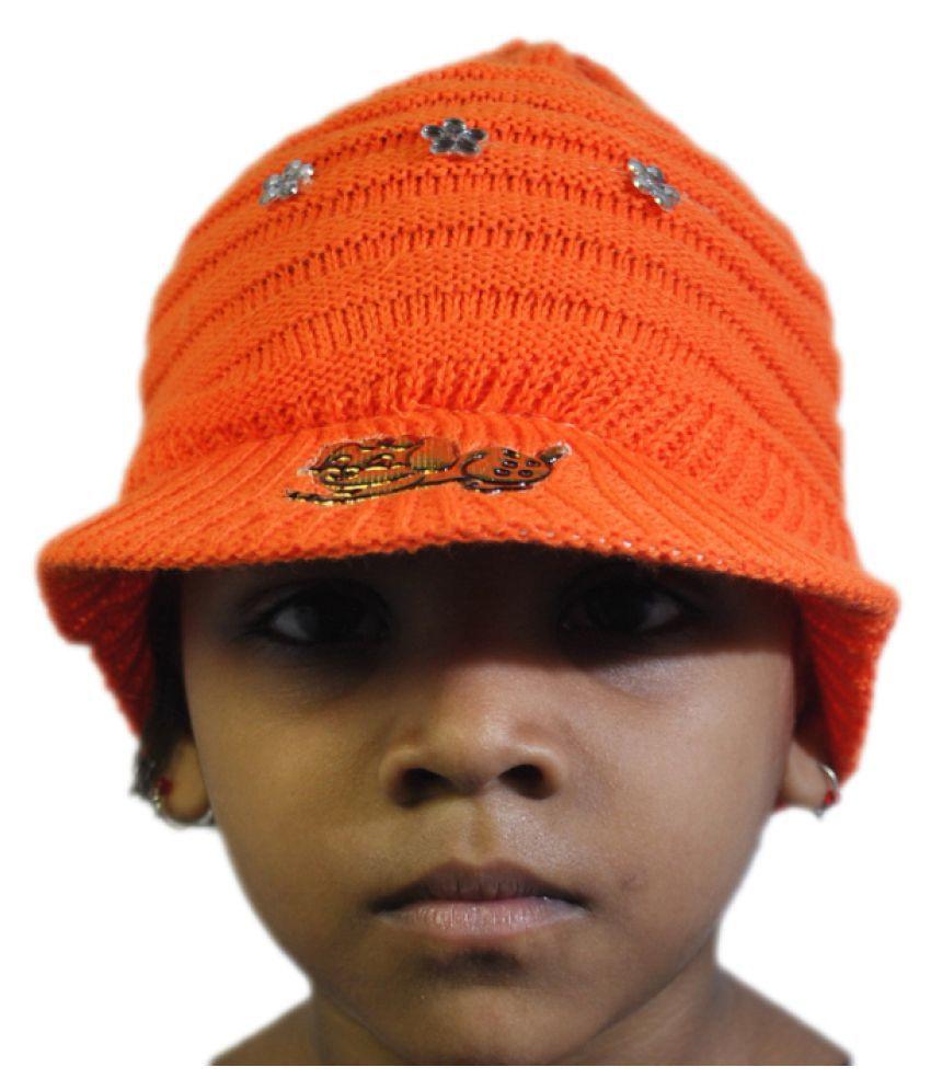 Korni Orange Winter Cap  Buy Online at Low Price in India - Snapdeal 66c2658d235
