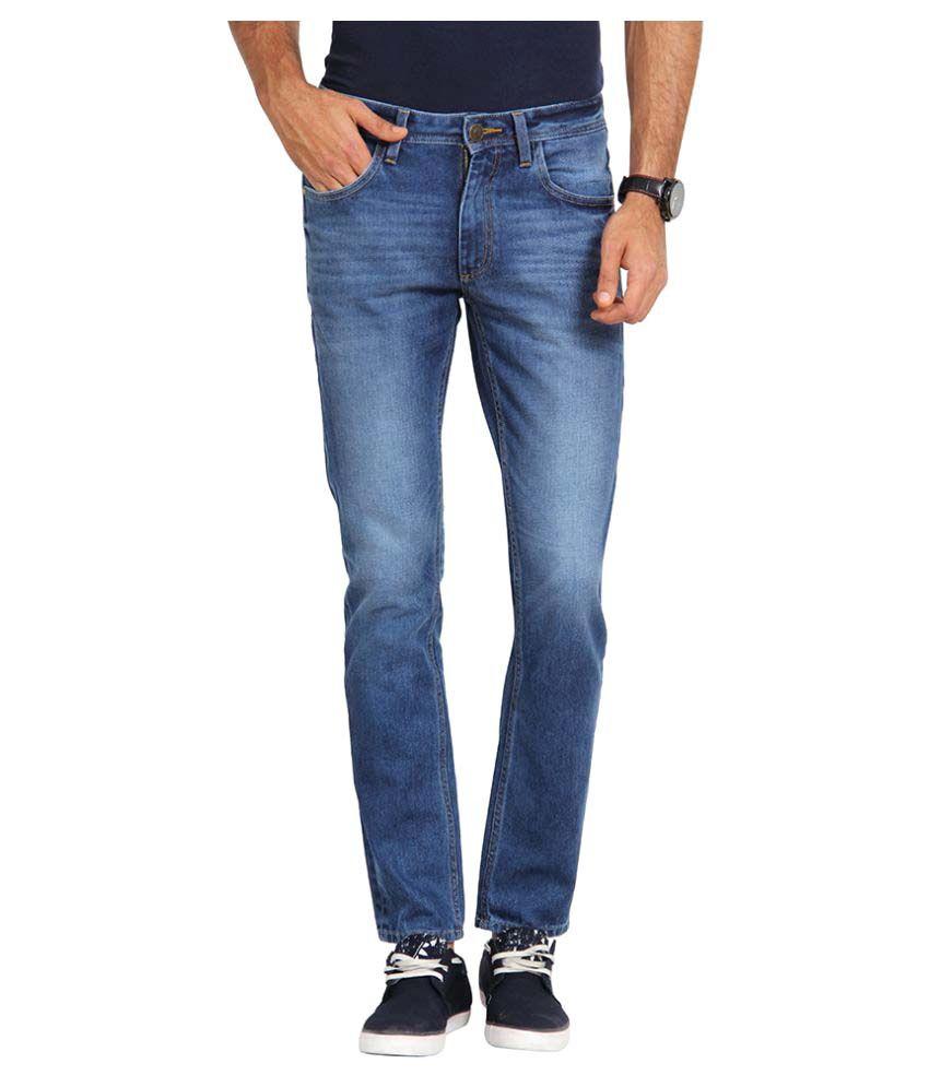 Slub Blue Regular Fit Solid