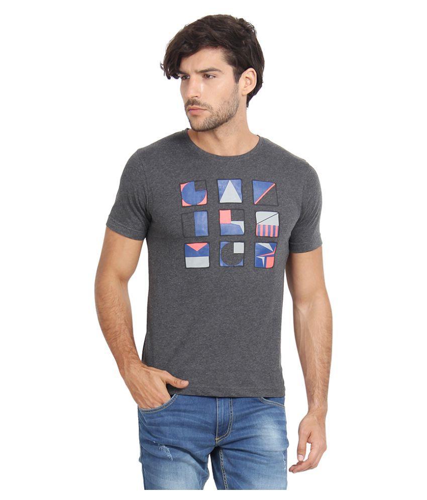 Slub Grey Round T-Shirt