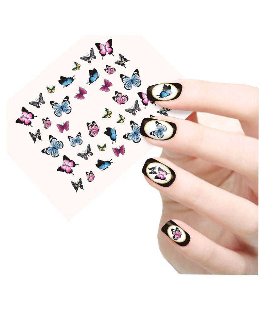 Jenna Manicure Water Transfer Nail Art Decals Stickers Sapphire