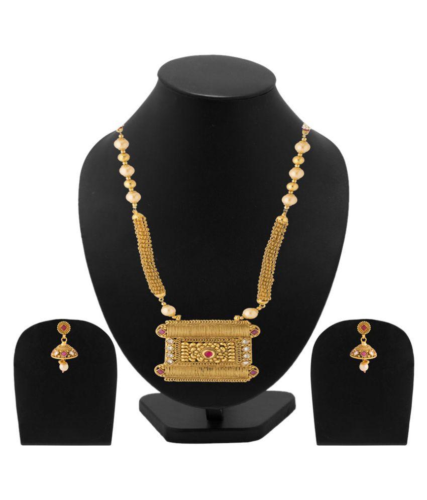 Voylla Golden Alloy Necklace & Sets
