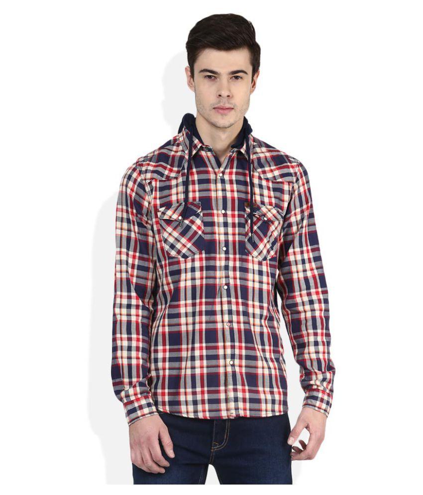 Lee Cooper Multi Casuals Slim Fit Shirt