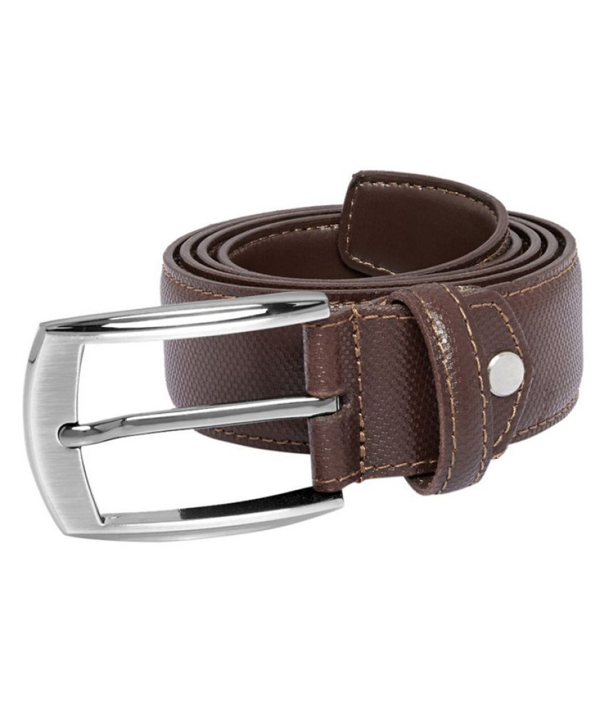 Park Avenue Brown Leather Formal Belts
