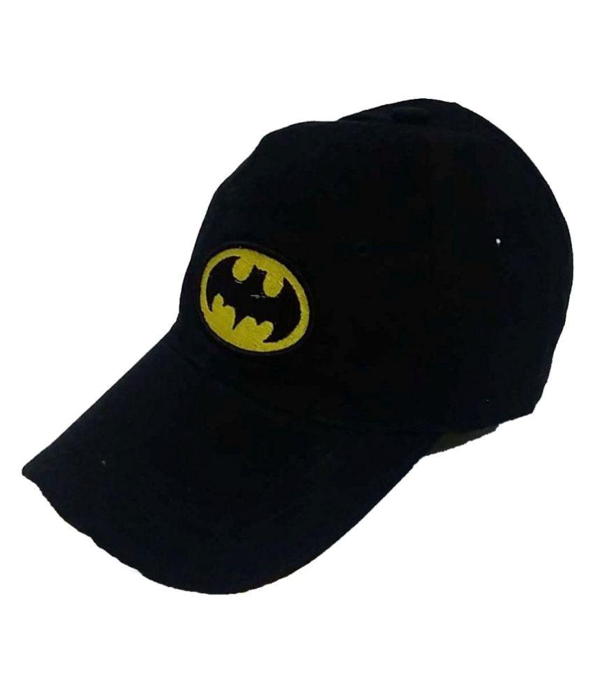 Saifpro Black Plain Cotton Caps