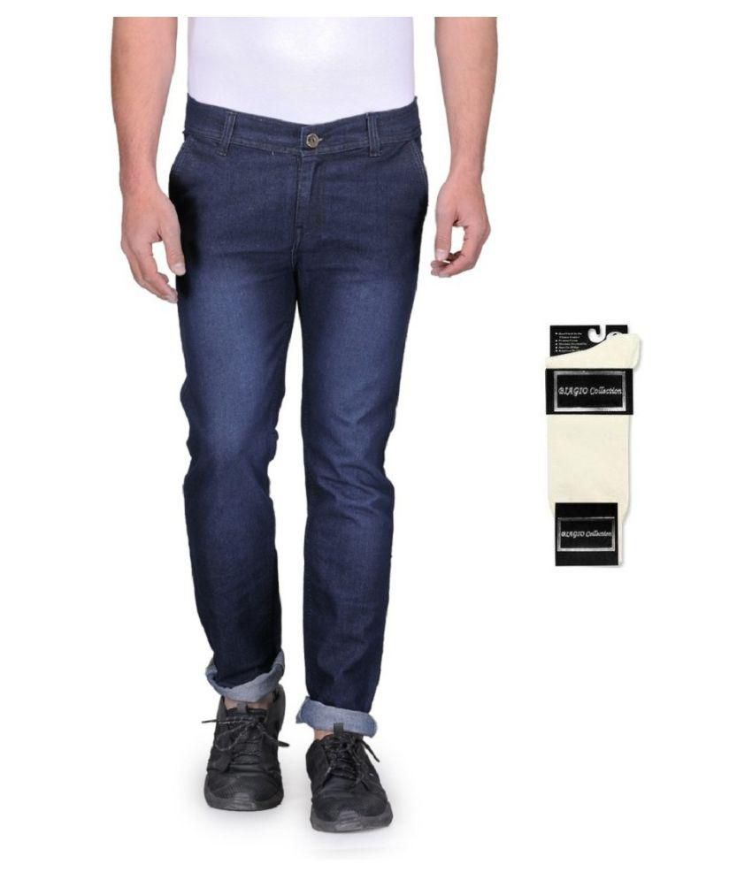 Urbano Fashion Blue Slim Faded