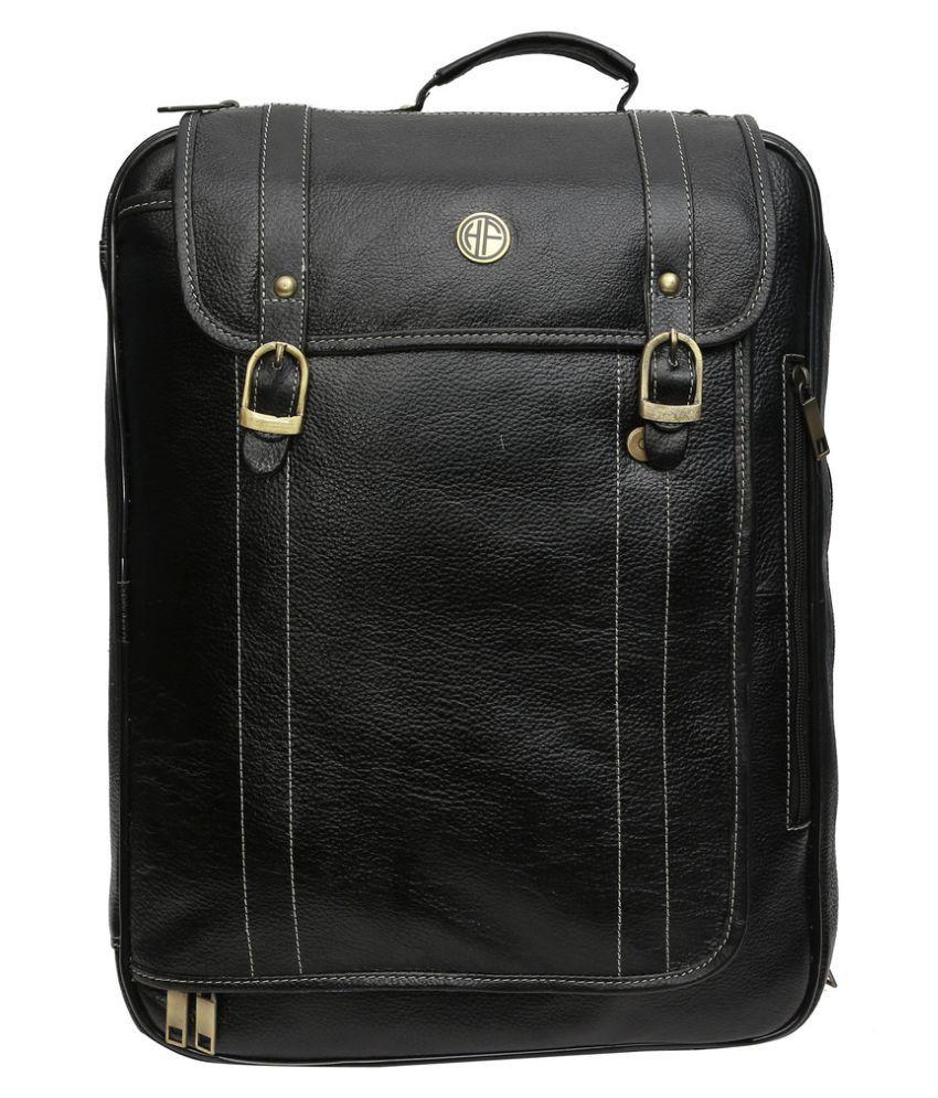 Hammonds Flycatcher Black Leather Office Bag
