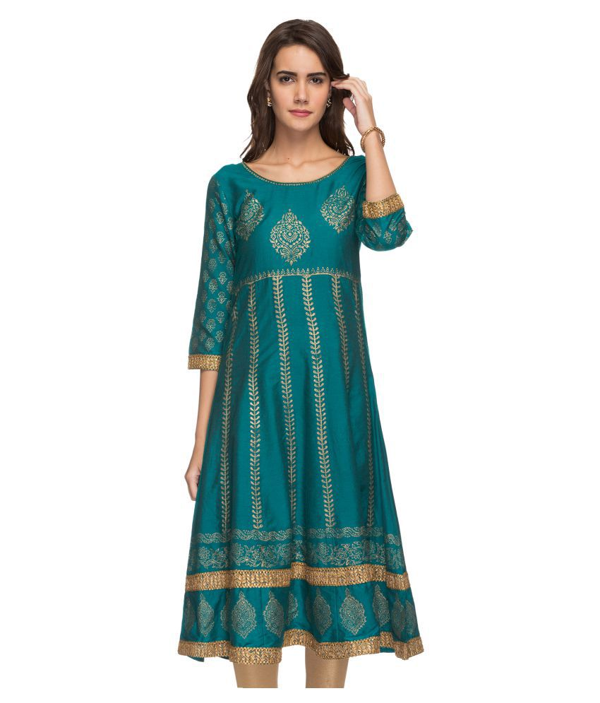 9a82e7fe72c3c Srishti by Fbb Green Gadwal Anarkali Kurti - Buy Srishti by Fbb Green  Gadwal Anarkali Kurti Online at Best Prices in India on Snapdeal