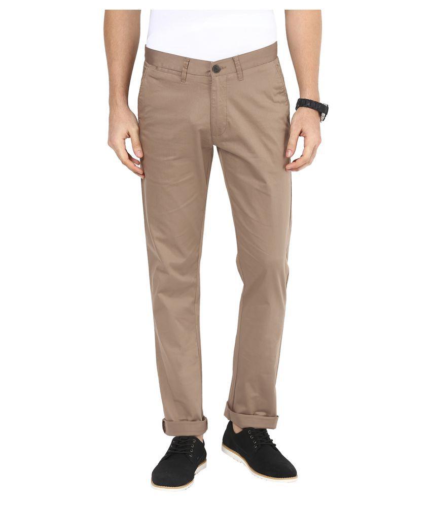 Sting Coffee Slim Flat Trouser