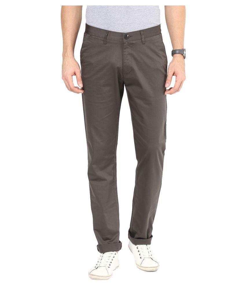 Sting Grey Slim Flat Trouser