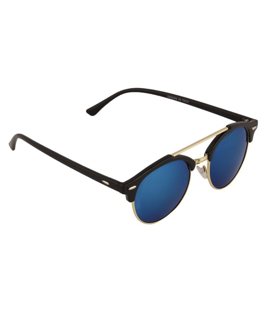 Mizco Blue Round Sunglasses ( SG17 )
