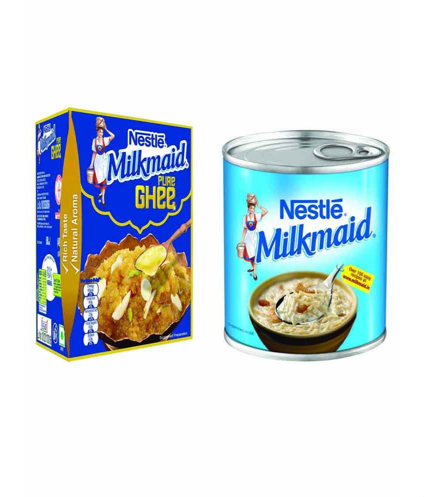 NESTLE MILKMAID Mithai Kit – MILKMAID Ghee 500 ml + MILKMAID 400 gm low price