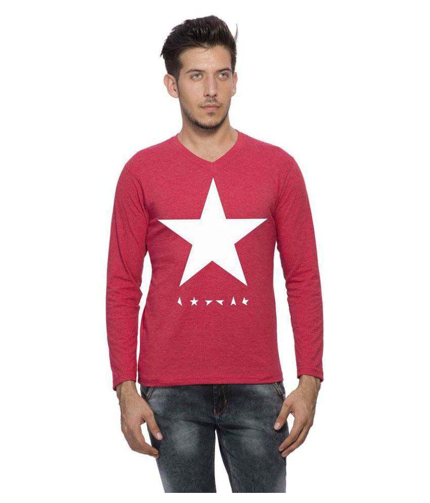 Clifton Pink V-Neck T-Shirt