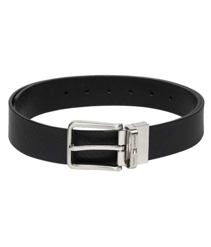 Tommy Hilfiger Navy Leather Formal Belts