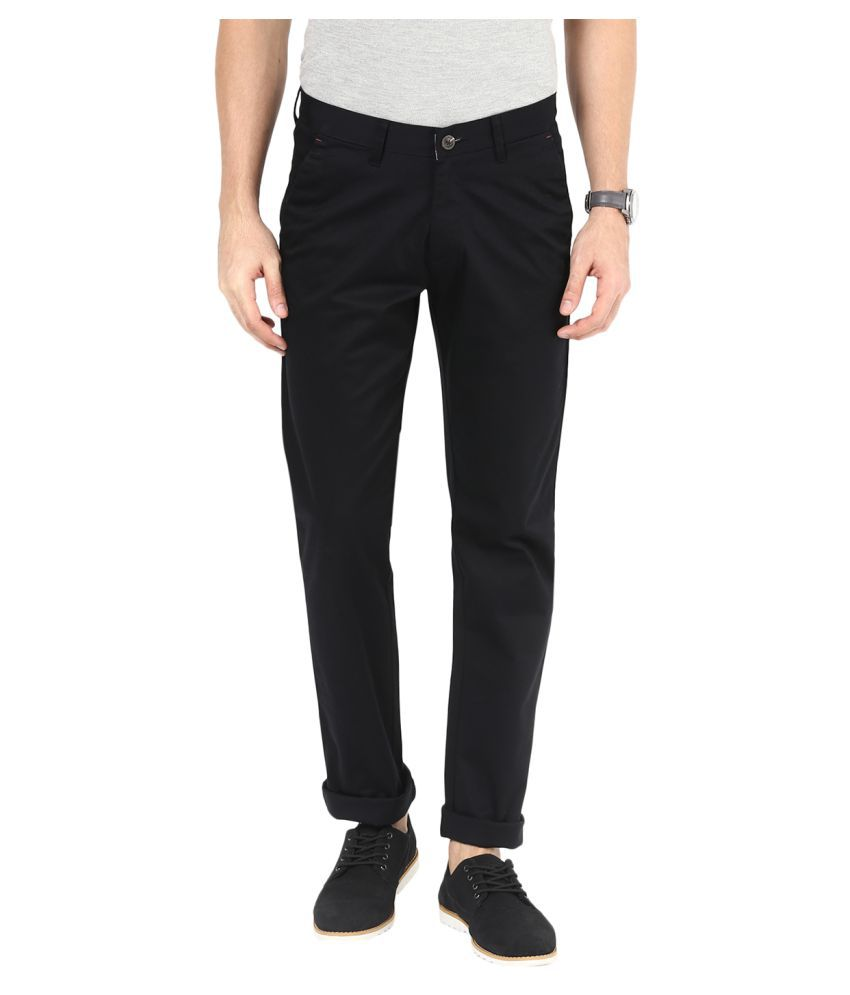 Sting Black Slim Flat Trouser