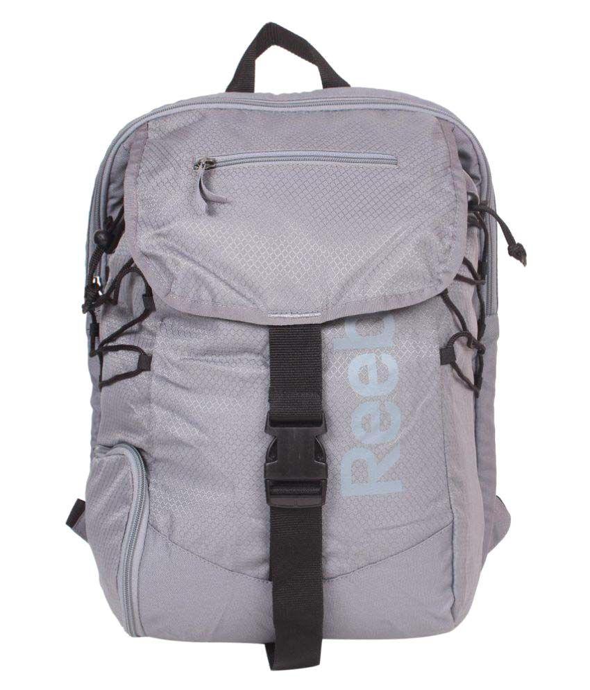 Reebok Grey Backpack - Buy Reebok Grey Backpack Online at Low Price -  Snapdeal