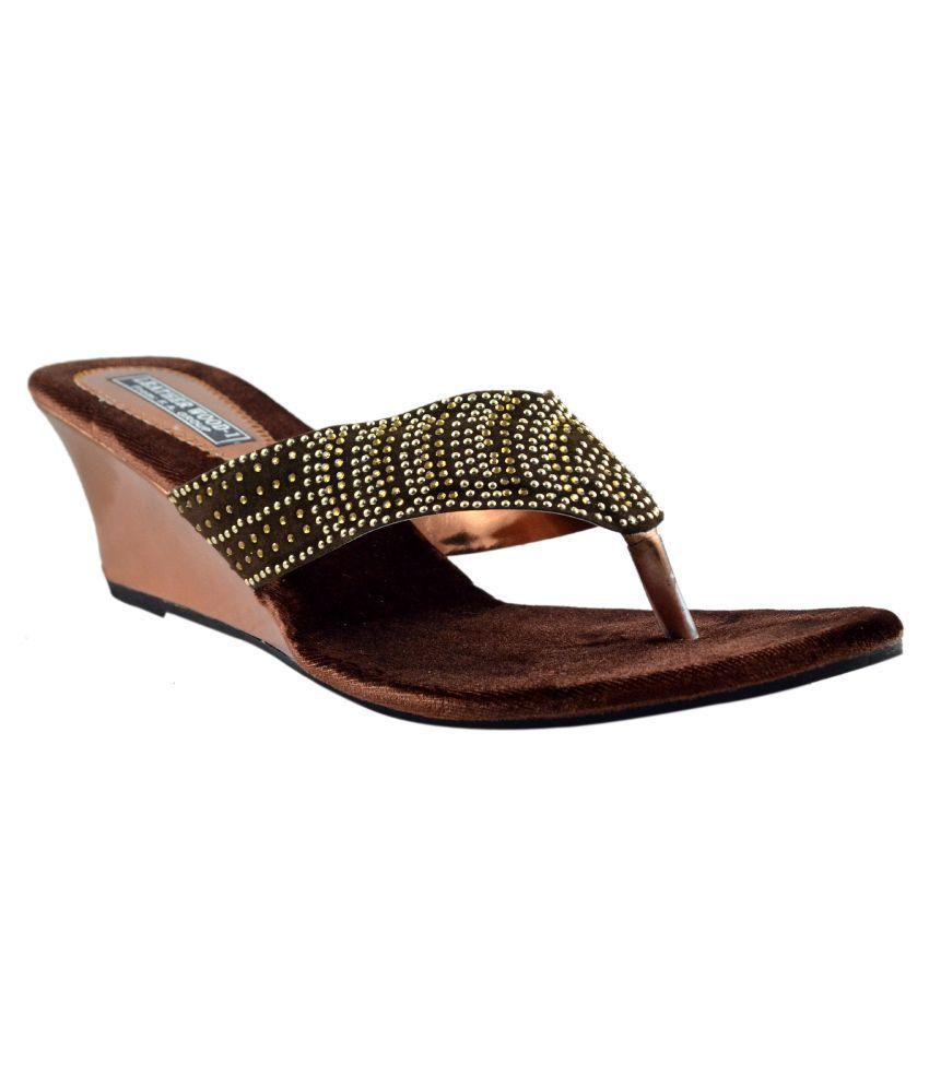 Leatherwood1 Brown Wedges Heels