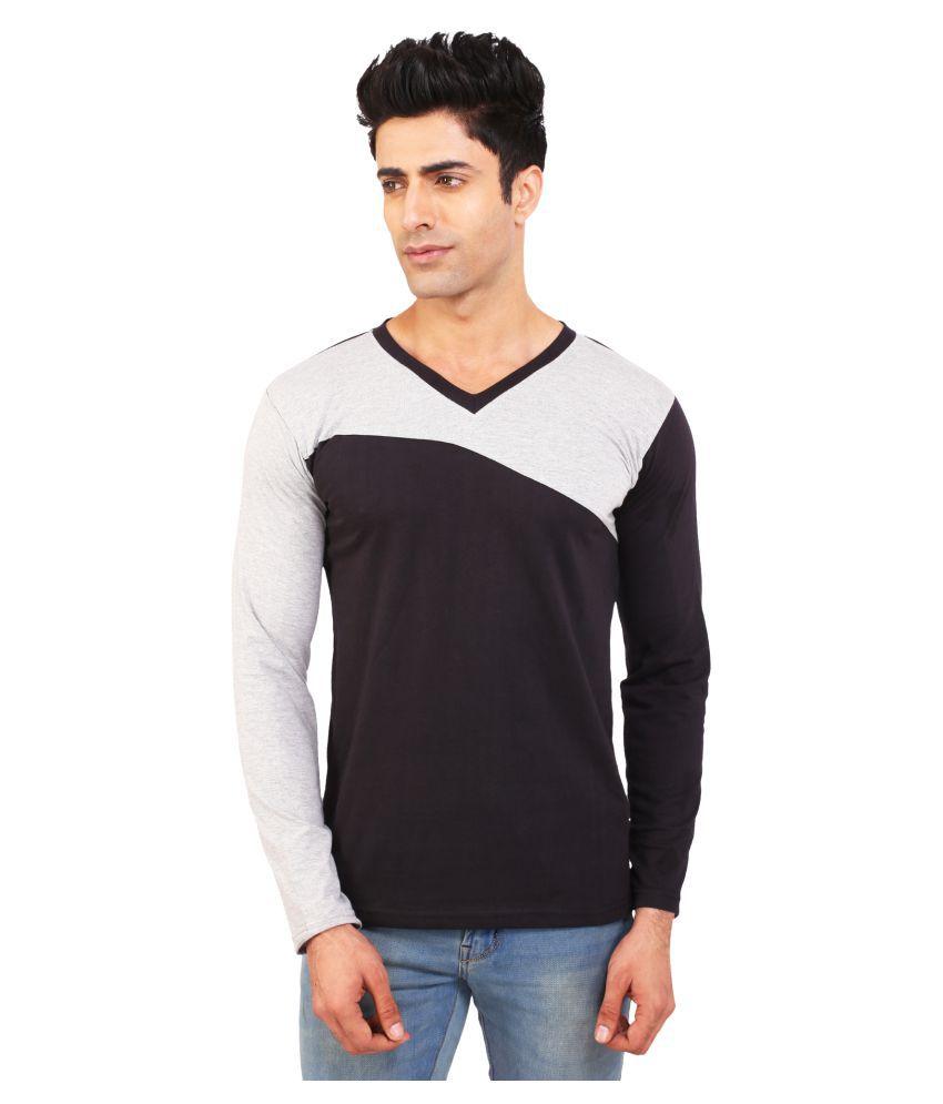 BKS Collection Black V-Neck T-Shirt