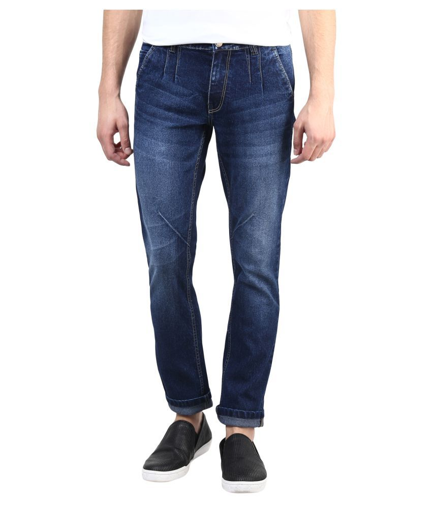 11Cent Dark Blue Slim Faded Men's Jeans