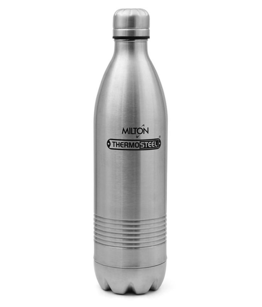 Milton Thermosteel Duo DLX 1000ml Insulated Steel Bottle - Steel Plain