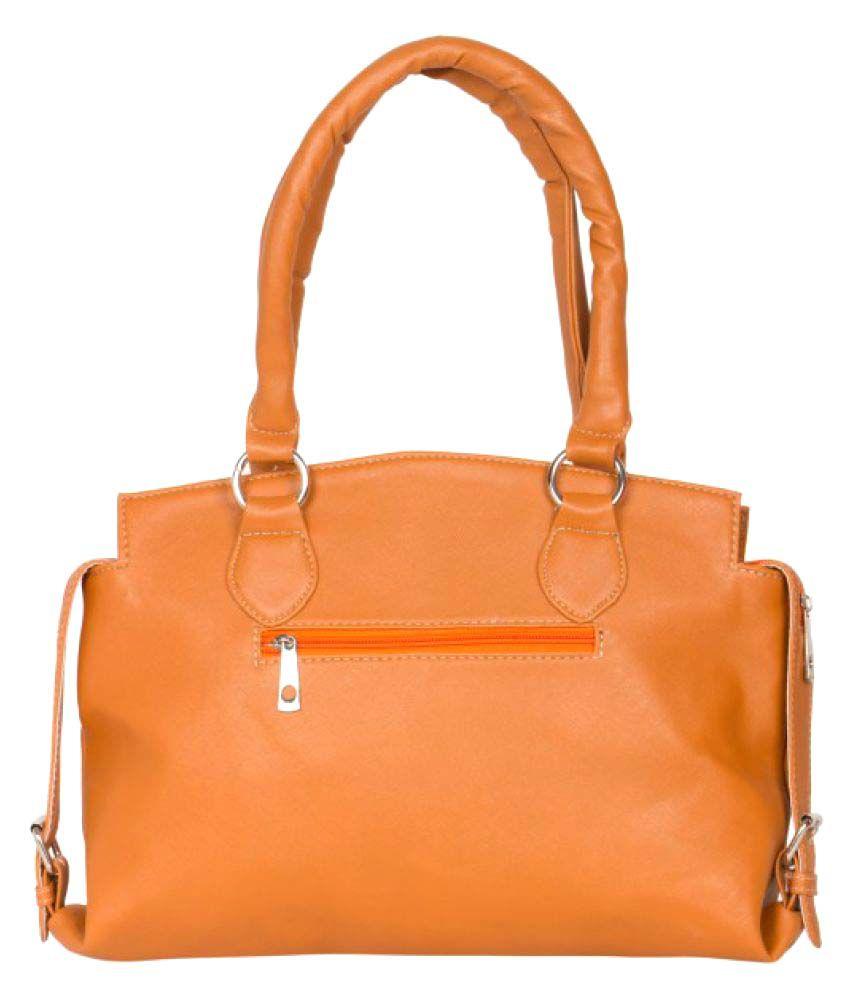 Senzoni Beige Artificial Leather Shoulder Bag
