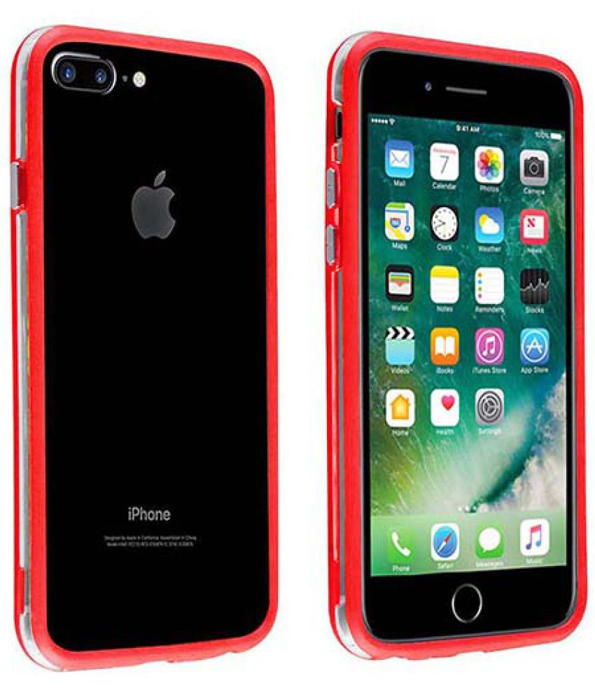 Apple Iphone 7 Plus Bumper Cover By Casotec Red Plain Back