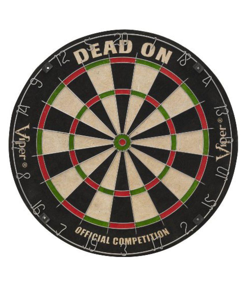 Viper Dead On Sisal/Bristle Dartboard with Staple-Free Bullseye