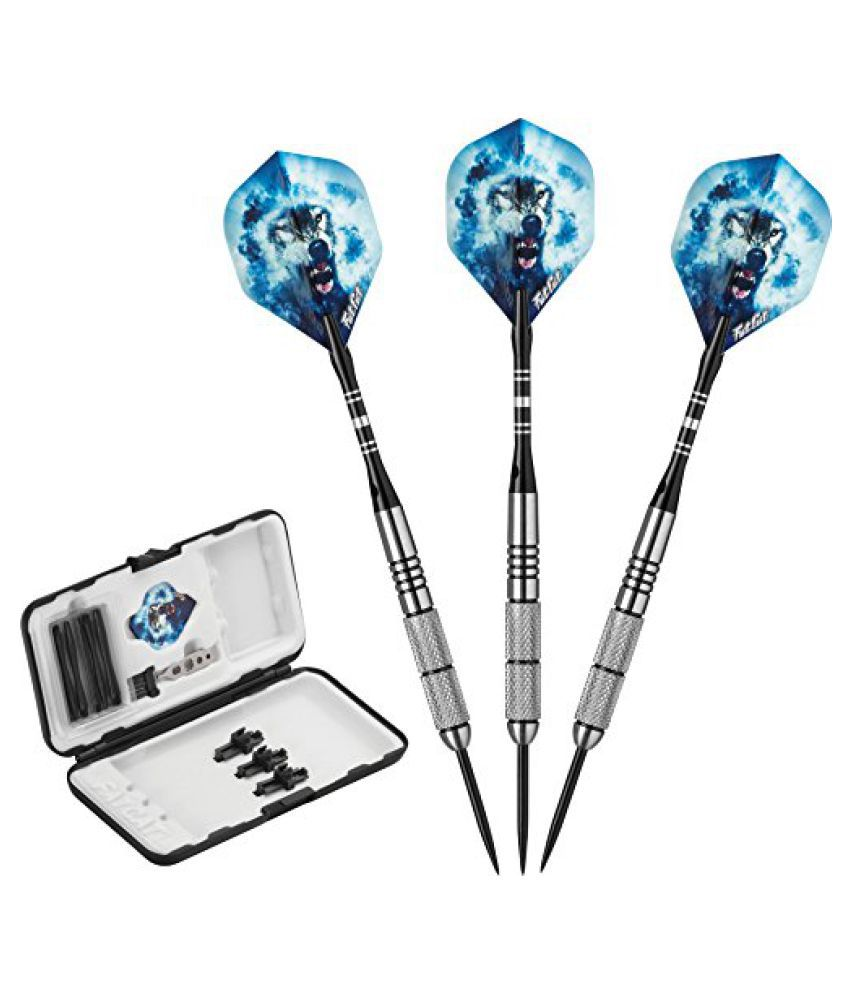 Fat Cat Predator 80% Tungsten Steel Tip Dart Set with Case, 23 Grams