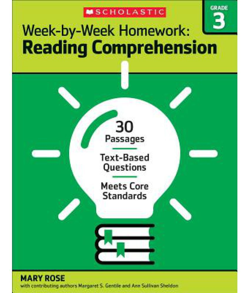 Worksheet Reading Text For Grade 3 week by homework reading comprehension grade 3 30 passages text based questions meets core standards