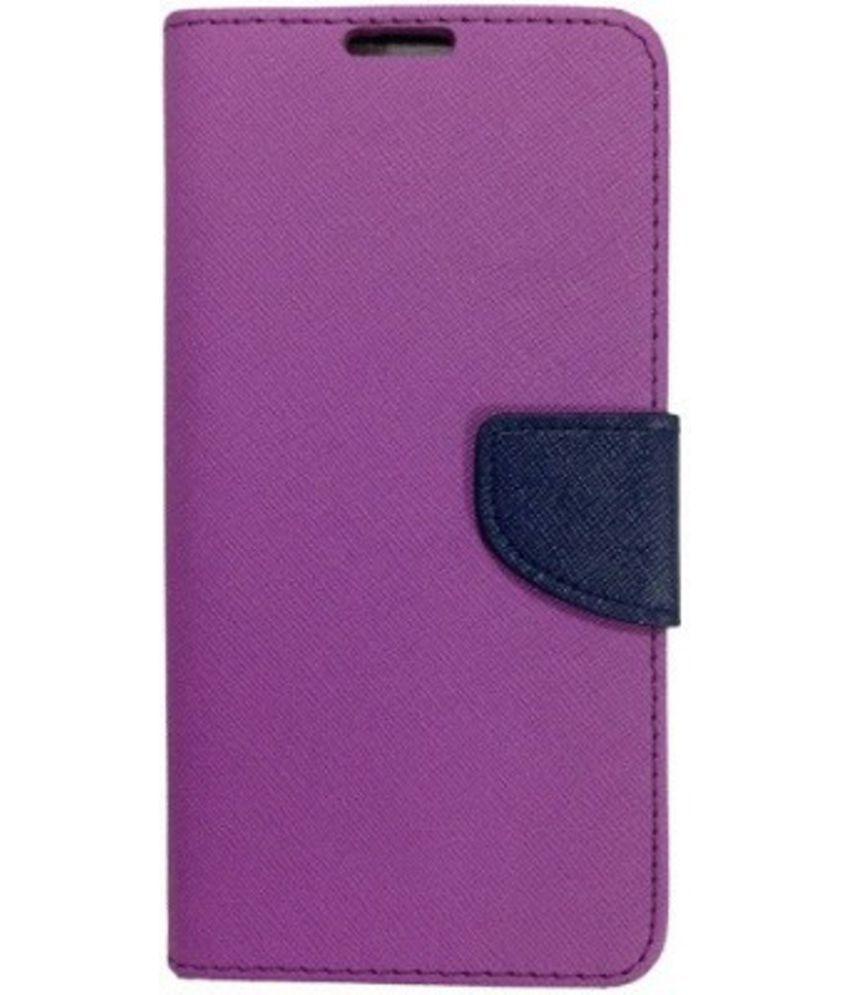 size 40 c01ac 2f786 HTC Desire 816G Octa Core Flip Cover by OM - Purple