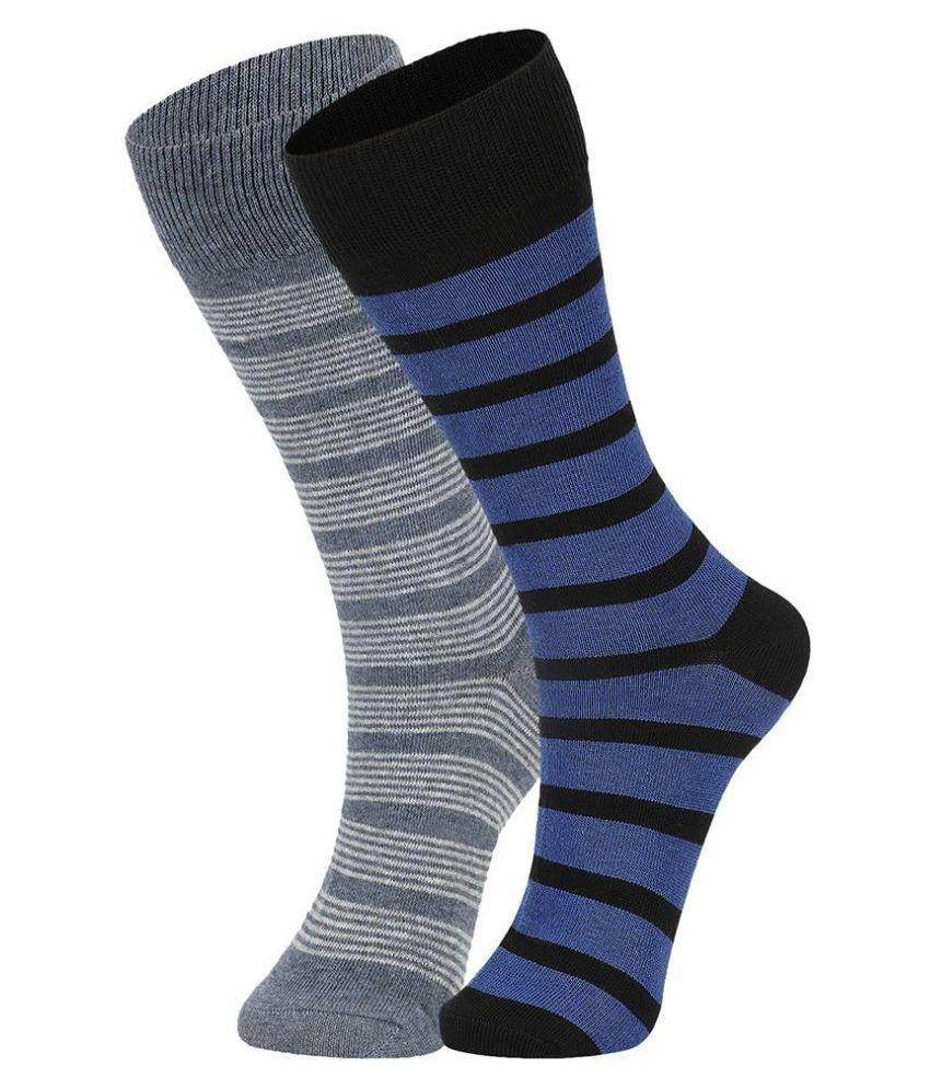 Dukk Multicoloured Casual Full Length Socks
