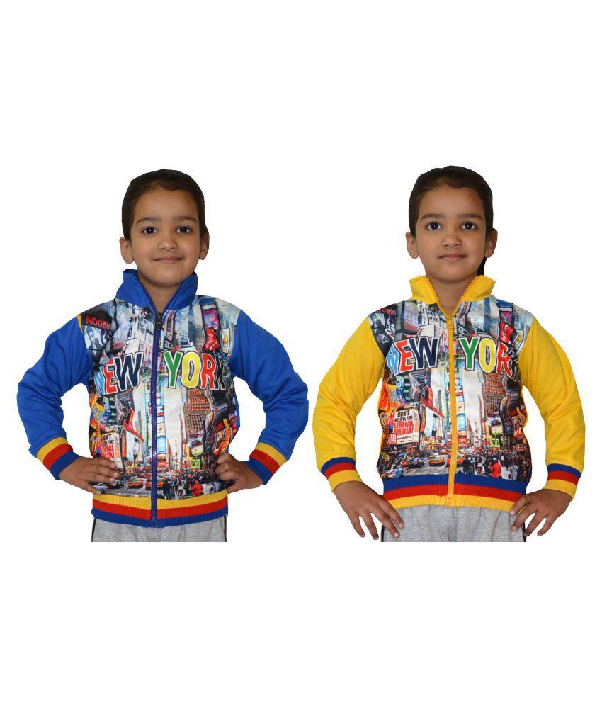 Shaun Multicolour Cotton Sweatshirt- Pack of 2