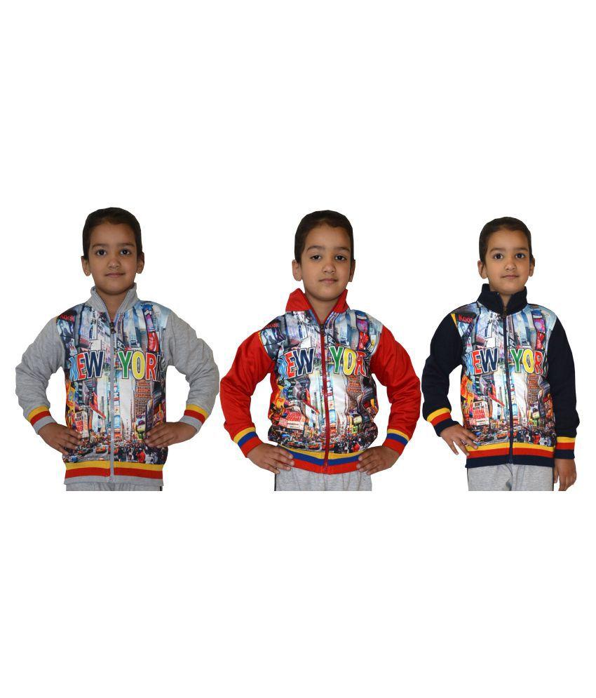 Shaun Multicolour Cotton Blen Sweatshirt - Set of 3