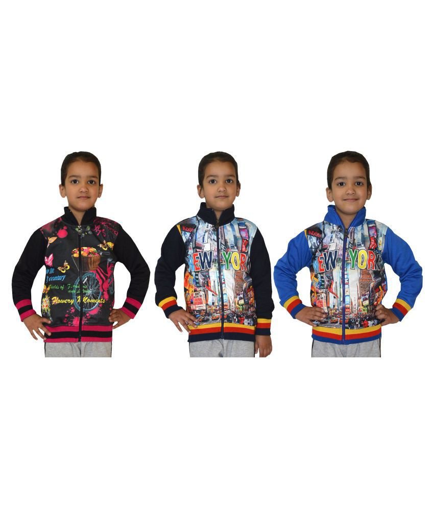 Shaun Multicolour Cotton Blend Sweatshirt - Set of 3