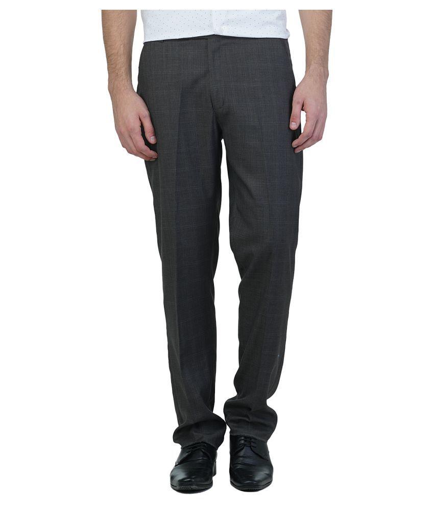 Griffel Black Regular Flat Trouser